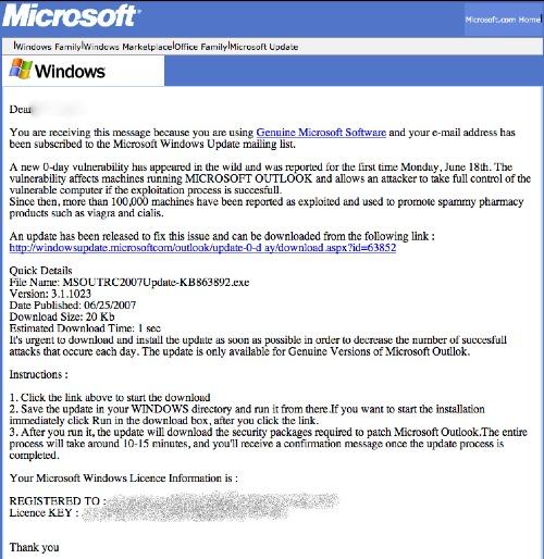 Trojan Microsoft